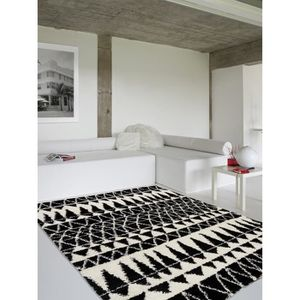 tapis poil long blanc achat vente tapis poil long. Black Bedroom Furniture Sets. Home Design Ideas