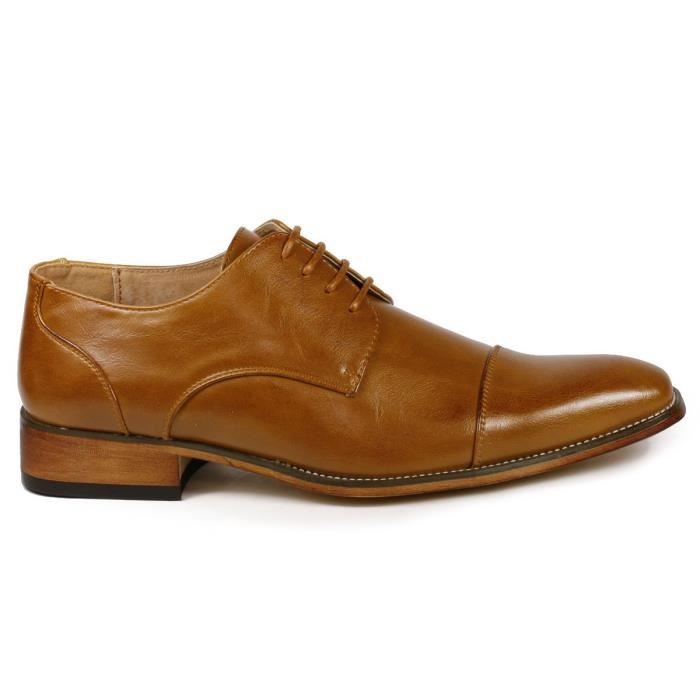 G6859-29u Cap Toe Lace Up Oxford Classique Chaussures Robe F09HU Taille-47
