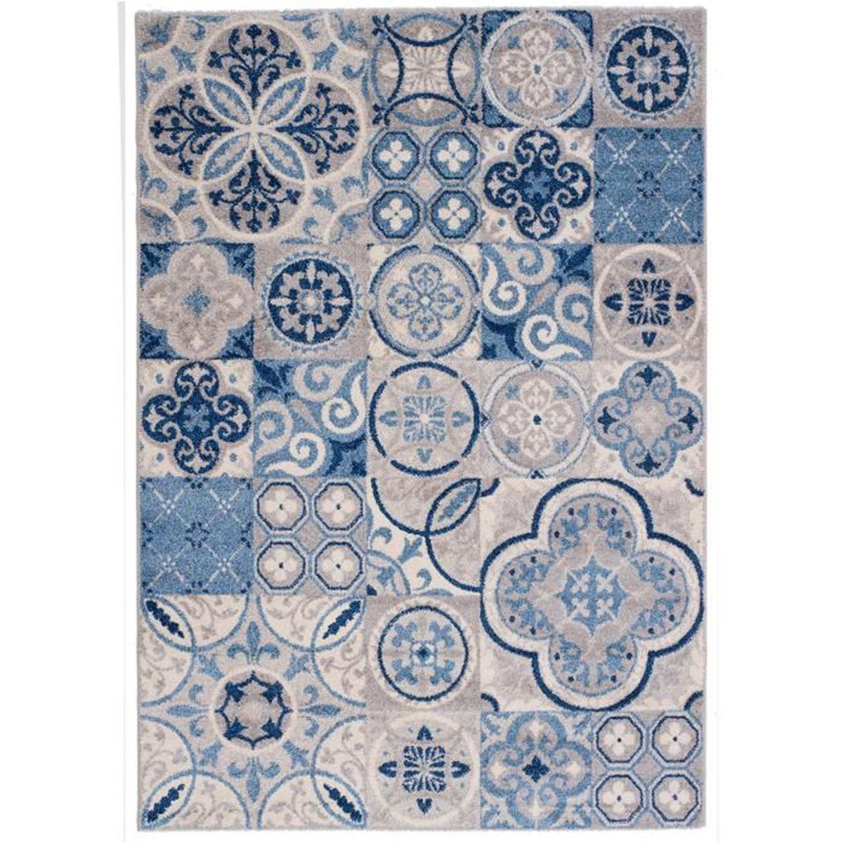 Tapis Effet Carreaux De Ciment karo tapis 160x230cm effet carreaux de ciment - achat