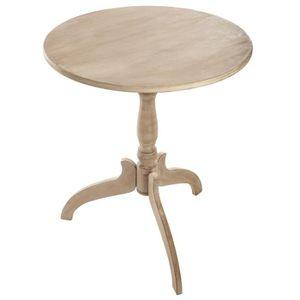 TABLE D'APPOINT Table ronde Guéridon - Diamètre 59 cm -  Bois Beig