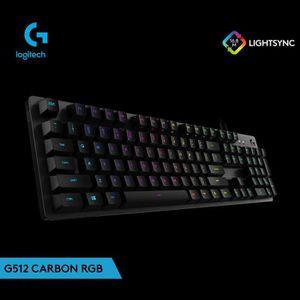 CLAVIER D'ORDINATEUR Logitech G512 Carbon RGB Wired Gaming Rétro-éclair