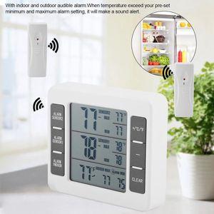 THERMO - HYGROMÈTRE Thermomètre de réfrigérateur d'alarme sonore audib