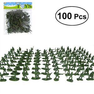 JEU CONSOLE ÉDUCATIVE 100 pcs En Plastique Militaire Soldats Figures Mod