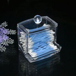Bo/îte de maquillage de qualit/é sup/érieure avec support de rangement en coton clair clair Li-ly organisateur tampon de coton-tige