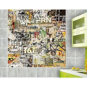 STICKERS Sticker carrelage mural, faience,déco cuisine-sall