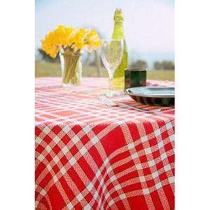 NAPPE DE TABLE Tissu ? nappe coton carreaux rouge et blanc