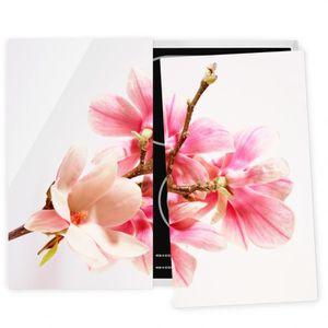 PLAQUE INDUCTION Couvre plaque de cuisson - Magnolia Blossoms - 52x