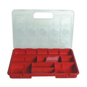 BOITE A COMPARTIMENT Mallette de rangement 15 casiers modulables Cargo