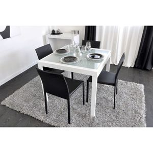Table carree extensible achat vente table carree for Table blanche carree