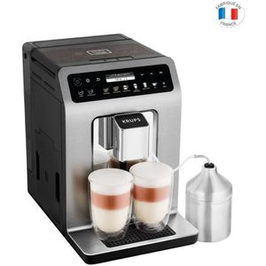 MACHINE À CAFÉ Krups Expresso Broyeur Evidence Pus Titane et Pot