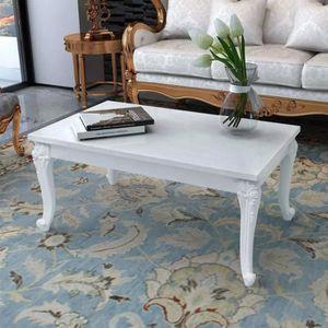 TABLE BASSE Table basse 100 x 60 x 42 cm Laquée Blanc Table ba