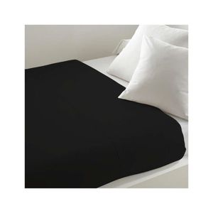 drap plat noir achat vente drap plat noir pas cher cdiscount. Black Bedroom Furniture Sets. Home Design Ideas