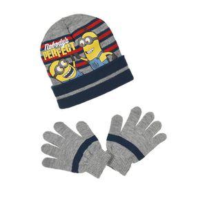 BONNET - CAGOULE Ensemble MINIONS bonnet gants enfant 52 cm