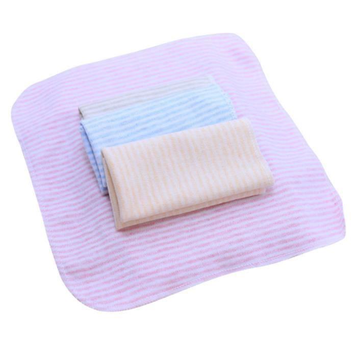 4 pièces lavable en coton doux rayure serviette de bébé confortable soins de d'allaitement de SERVIETTE DE BAIN - DRAP DE BAIN