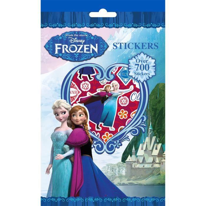 Kit loisirs créatifs coloriages et stickers - La Reine des Neiges - Disney