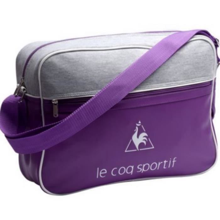 Sac Bandoulière Vintage Violet et Gris Le Coq Sportif