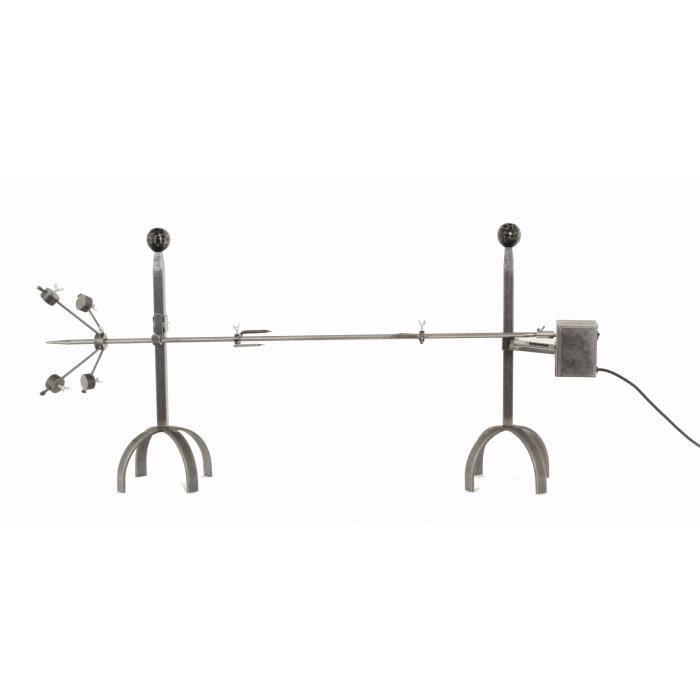 Tourne broche en Acier + moteur électrique force ACCESSOIRES - 120cm