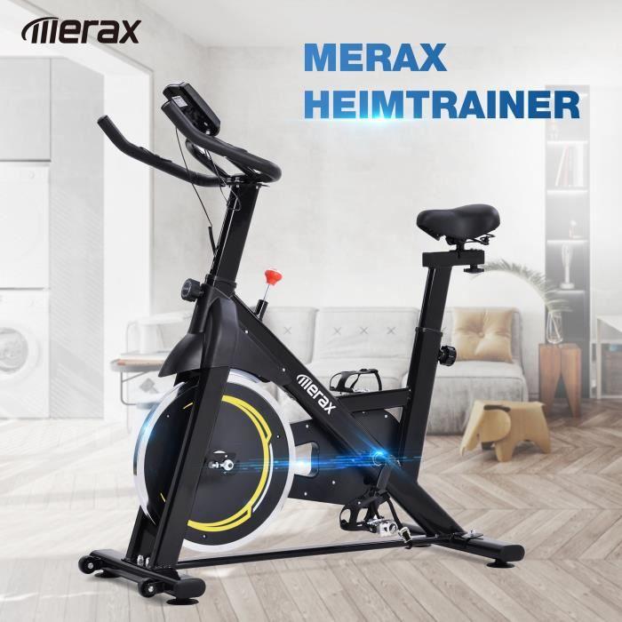 FIT BIKE - Vélo d'intérieur avec volant d'inertie de 8 kg - Vélo d'exercice à domicile (noir et jaune - expédié d'Allemagne)
