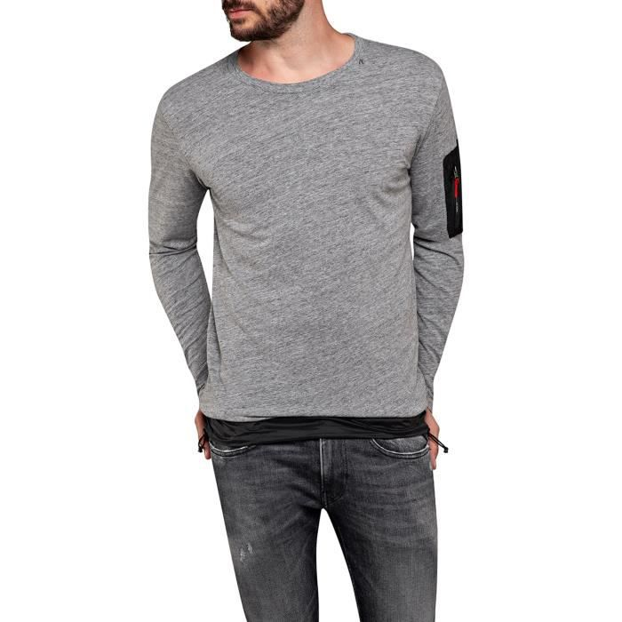 Replay T-Shirt Manches Longues Homme M3061.000.22848-M30