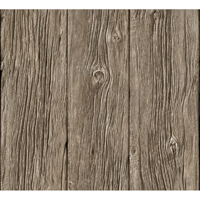 Papier peint Planches de bois flotté trompe l'oei