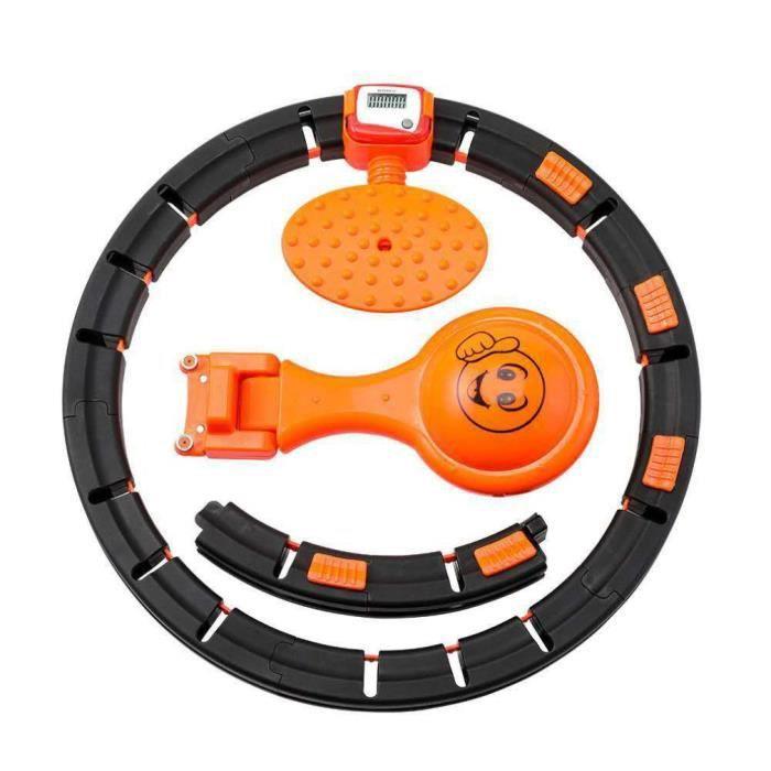 Hula Hoop intelligente Fitness Perte de poids Diamètre 27.5cm-30.5cm - Noir et orange