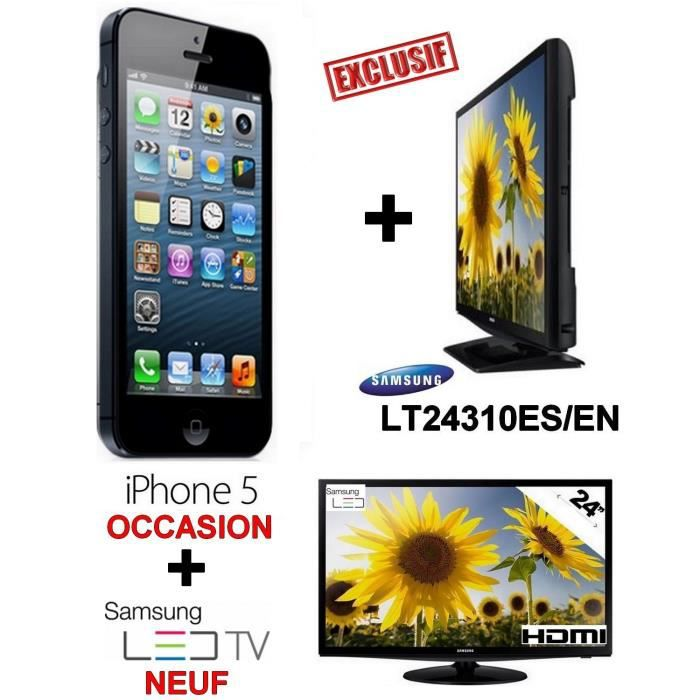 offre special iphone 5 noir bon etat ecran led tv samsung neuf 24 pouces achat smartphone. Black Bedroom Furniture Sets. Home Design Ideas