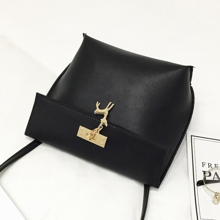 SAC DE VOYAGE Femmes Messenger sacs Vintage petit cerf pendentif