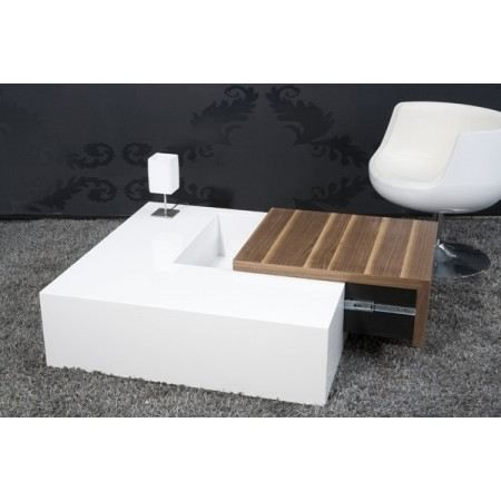 Table basse rectangulaire bois blanc images - Table basse blanc bois ...