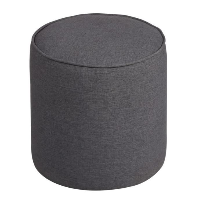 pouf rond gris achat vente pouf poire tissu cdiscount. Black Bedroom Furniture Sets. Home Design Ideas