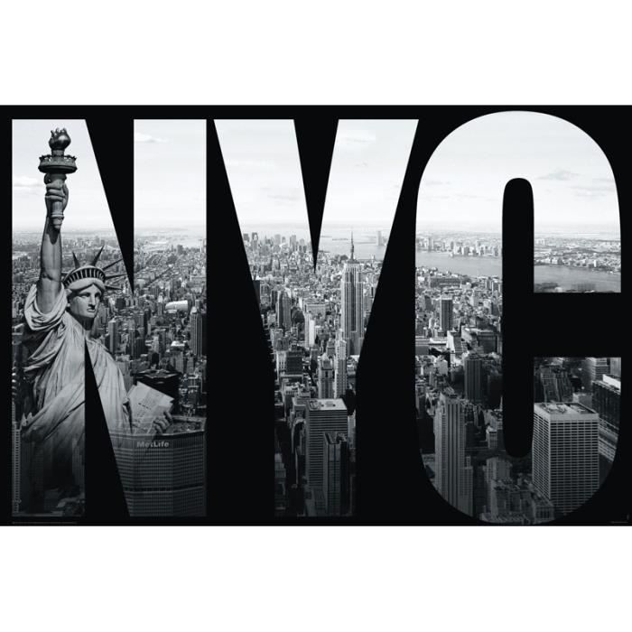 Poster new york city statue de la libert achat vente for Decoration murale geante new york