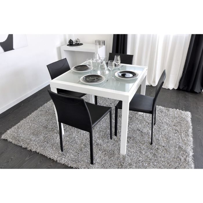 Table manger carr e extensible achat vente table for Table a manger carre extensible
