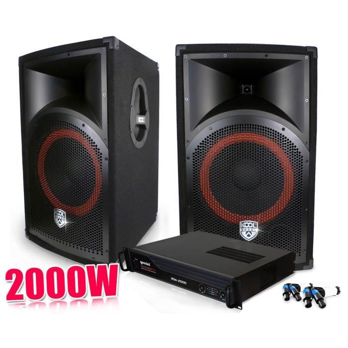 pack sono dj enceintes 2x500w ampli gemini 2000w pack. Black Bedroom Furniture Sets. Home Design Ideas
