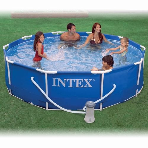 piscine metal frame intex achat vente kit piscine