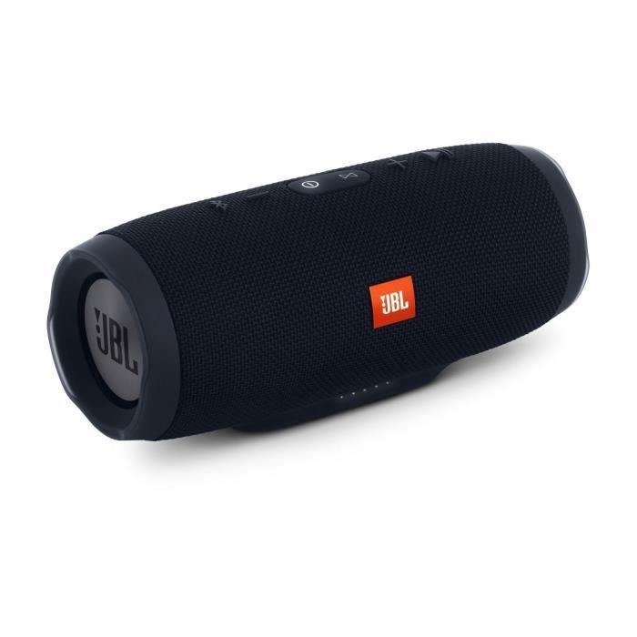 ENCEINTE NOMADE JBL Enceinte Charge 3 Stealth - Bluetooth - 20h d'