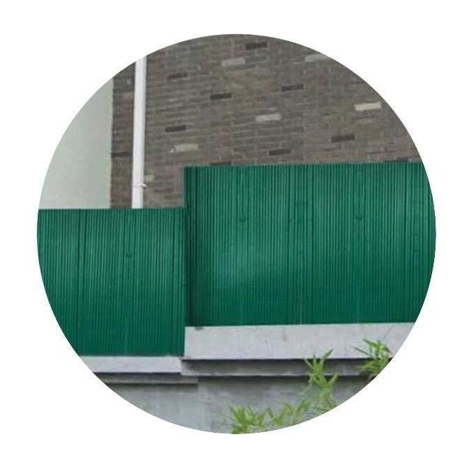 CLÔTURE - GRILLAGE Canisse en PVC vert double face 1,2 x 3 m