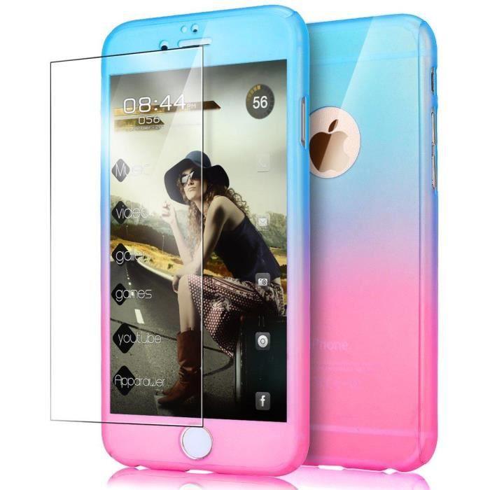 coque iphone 6s iphone 6 degrade de couleur rigi