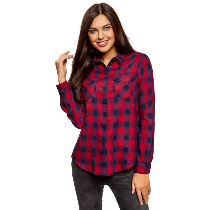 T-SHIRT Coton T-shirt des femmes avec poches poitrine 3YM6