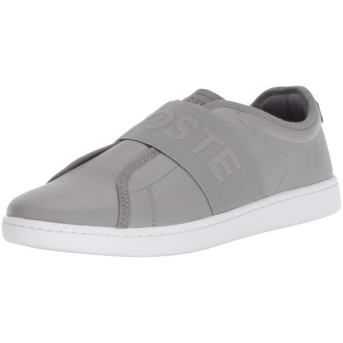 cd671c89285 Lacoste Femmes Carnaby Evo Slip Sneaker Y0OVE Taille-40 Gris Gris ...