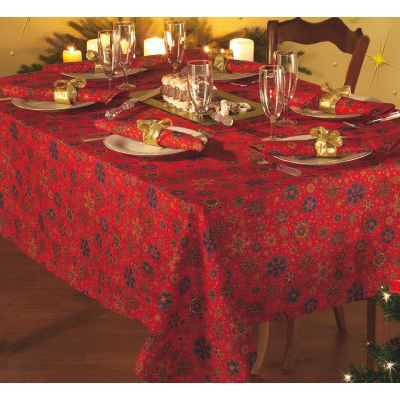 nappe de noel 140 x 180 cm achat vente nappe de table cdiscount. Black Bedroom Furniture Sets. Home Design Ideas