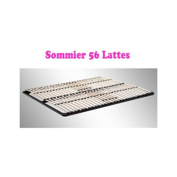 sommier 140 x 200 56 lattes achat vente sommier. Black Bedroom Furniture Sets. Home Design Ideas