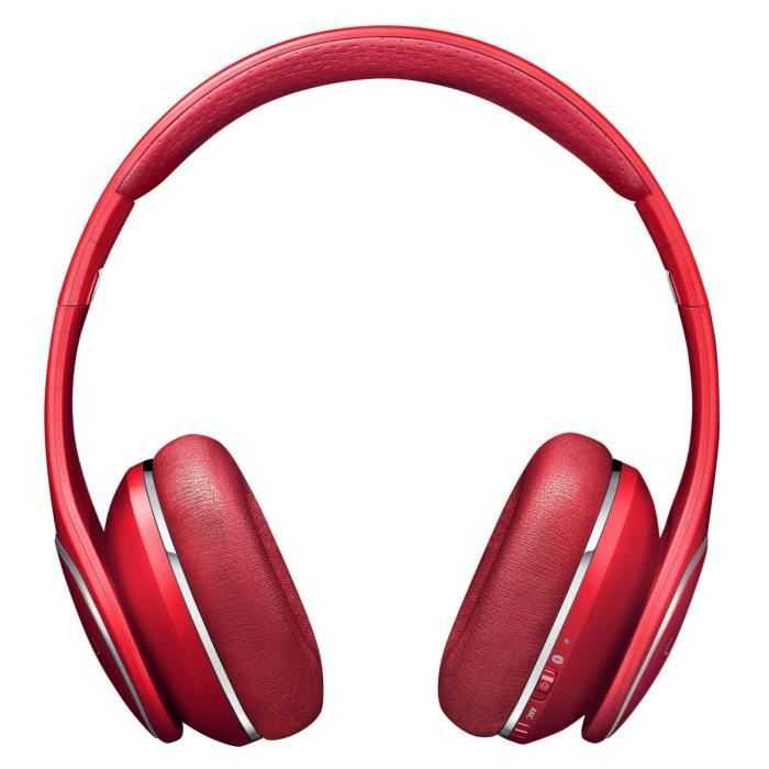 Samsung Casque Audio Sans Fil Level On Bluetooth Rouge Oreillette