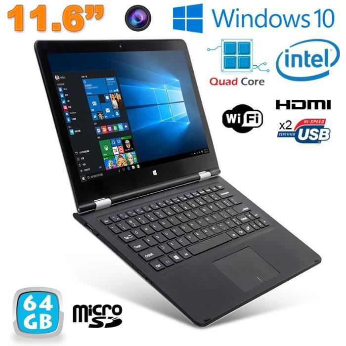 netbook windows 10 mini pc portable tactile 11 6 39 intel 1. Black Bedroom Furniture Sets. Home Design Ideas