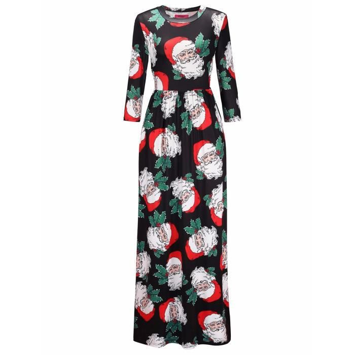 Womens Elegant Floral Print Summer Beach Long Maxi Dresses With Pockets 1R8MXV Taille-36