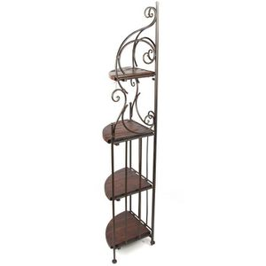 etagere angle fer forge achat vente etagere angle fer forge pas cher cdiscount. Black Bedroom Furniture Sets. Home Design Ideas