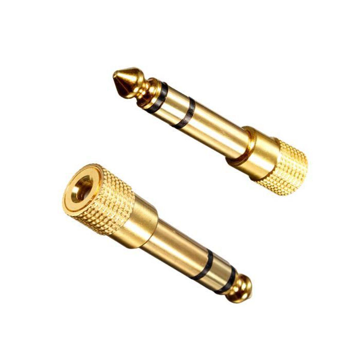 Prise Adaptateur Fiche JACK 6.35mm vers 3.5mm mâle//femelle Audio Casque Stéréo