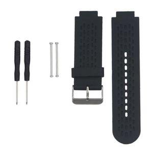 BRACELET DE MONTRE Noir Courroie de bande de montre de silicone de re