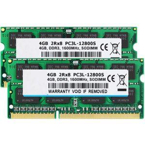 MÉMOIRE RAM Kit mémoire de 8 Go (2 X 4 Go) 2RX8 PC3L-12800S DD