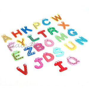 JEU D'APPRENTISSAGE Ensemble 26 Lettres Magnétique Alphabet en Bois Jo