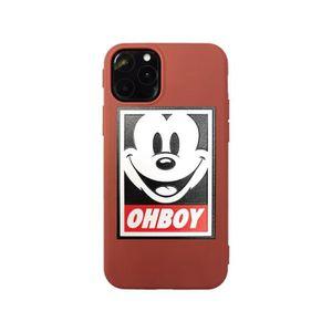 COQUE - BUMPER Coque iPhone 11 PRO,Disney Mickey Rouge Antichoc P
