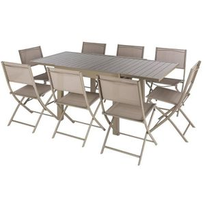 Table extensible taupe achat vente table extensible taupe pas cher cdis - Table a manger taupe ...